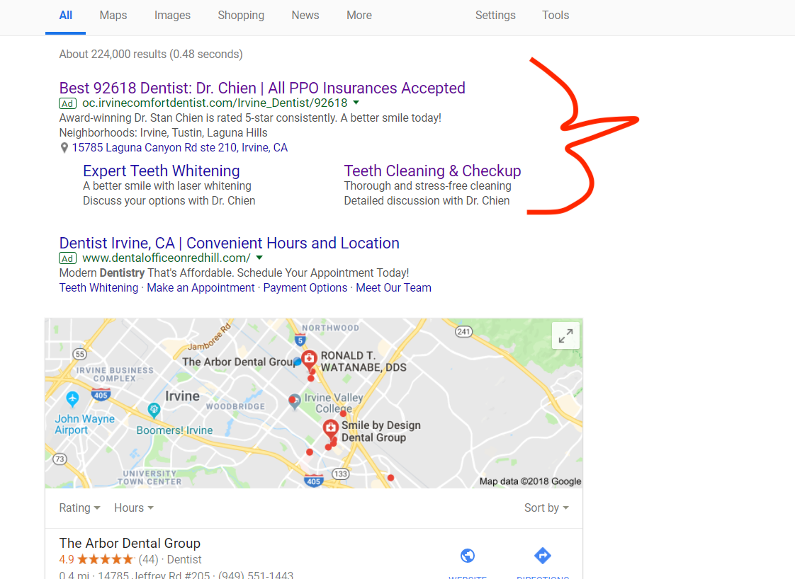 More Space More Attention More Success >> Dental Success 20 New Appointment Calls A Month Via Google Ads