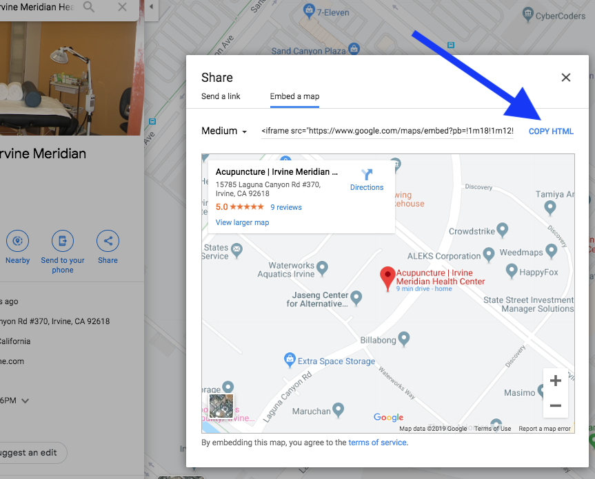 Google Maps Embed Copy HTML