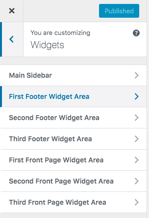 Wordpress Footer Widget