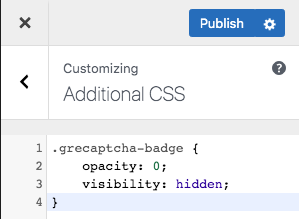 Add The Code Into Customize (Additional CSS) and Publish