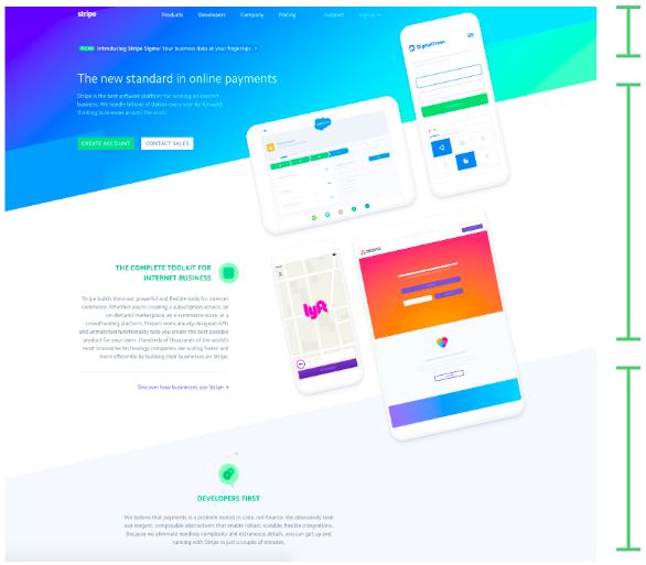 Stripe Web Design with Visual Rhythm