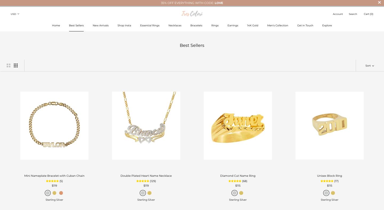 TresColori Shopify Website Design Pricing Page