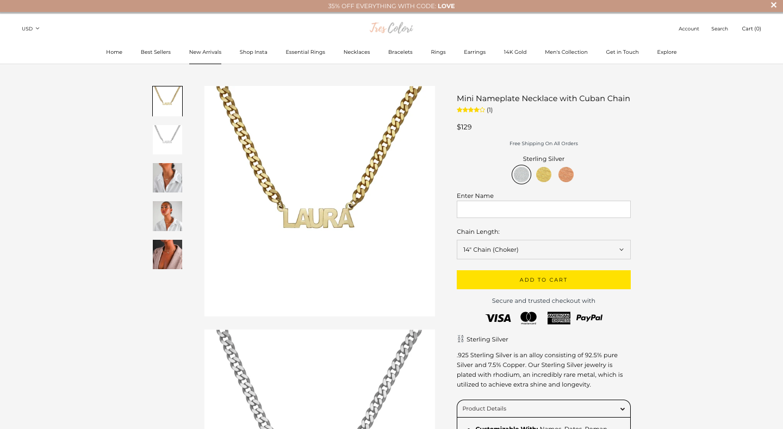 TresColori Shopify Website Design Landing Page