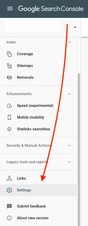 Google Search Console Settings