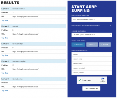 SERP Surf Results Top Free SERP Tools