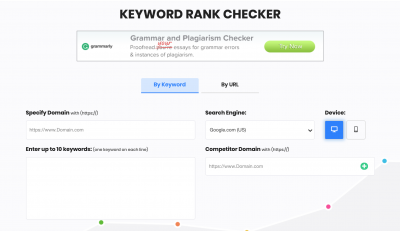 Search Engine Report's Keyword Rank Checker Top Free SERP Tools