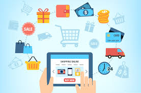 mobile-first approach to commerce depicted with graphics of a tablet and shopping