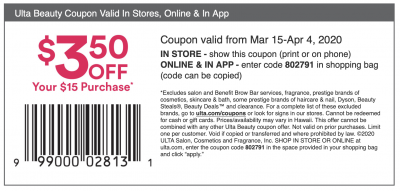 ulta coupon from their website