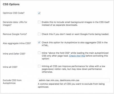 Autoptimize CSS Best Free WordPress Plugins for Blogs