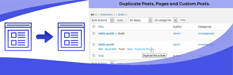 Duplicate Page Best Free WordPress Plugins for Blogs