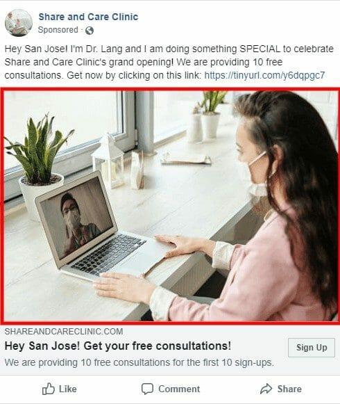 a/b testing facebook ad