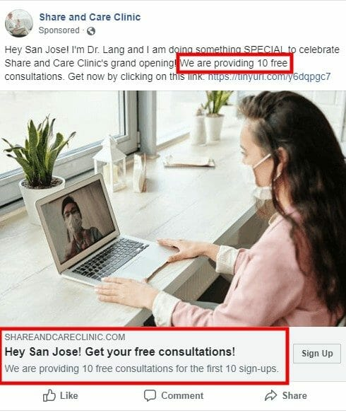 Creating a compelling offer on Facebook Ads