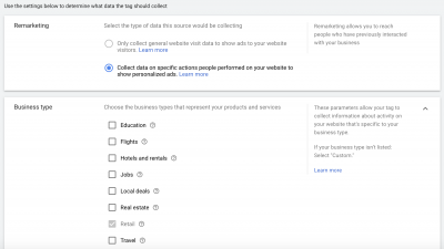 Google Ads Remarketing Tag