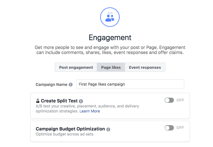 Facebook ads split testing