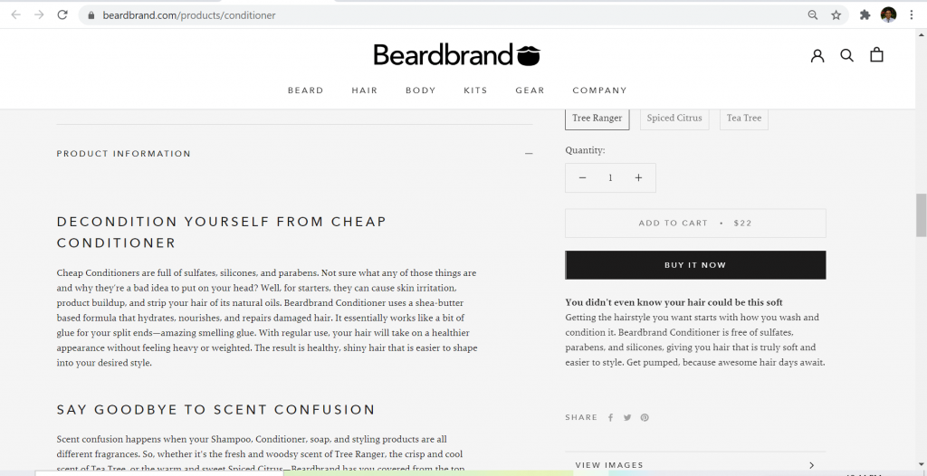 beardbrand faq displayed
