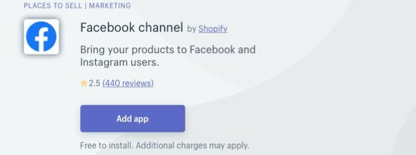 Shopify Facebook Channel