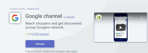 Shopify Google Channel