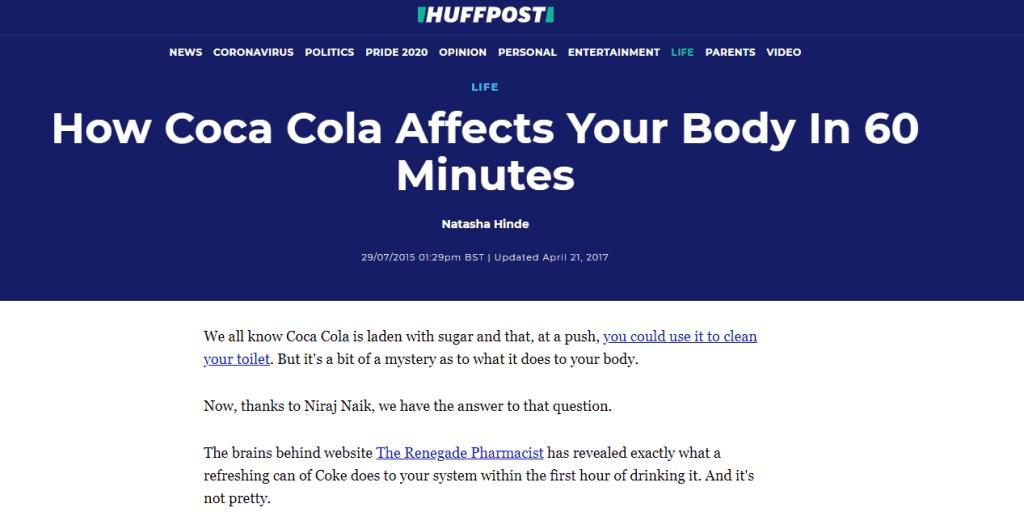 huffington post's story on viral coke story