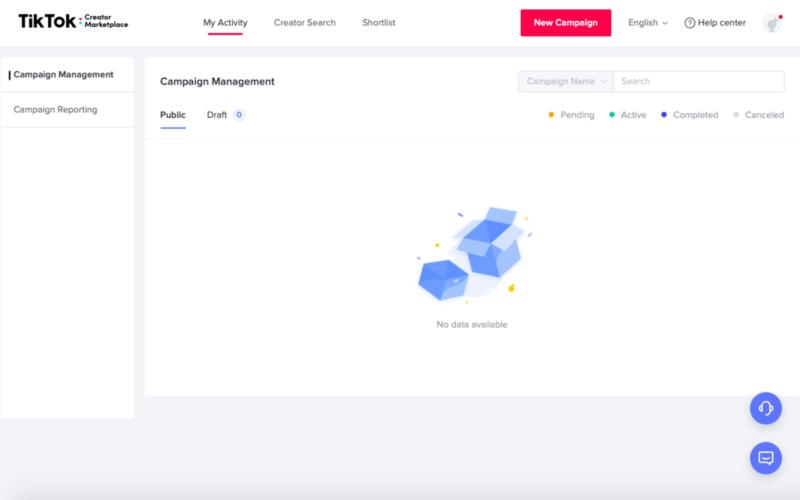 TikTok Creator marketplace Campaign Management