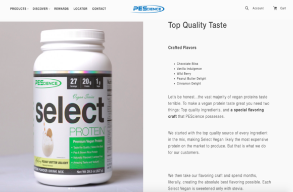 Good seo product page description example