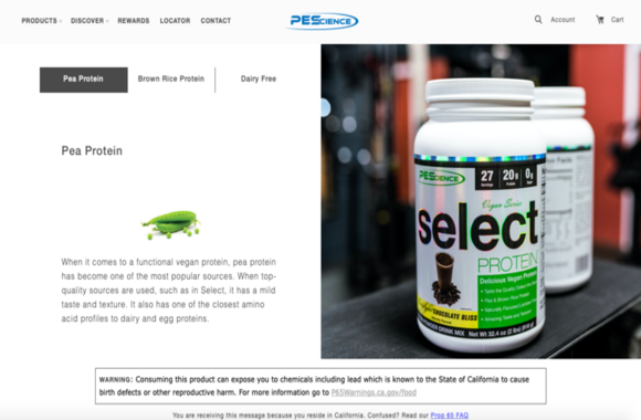 Good product page example for SEO