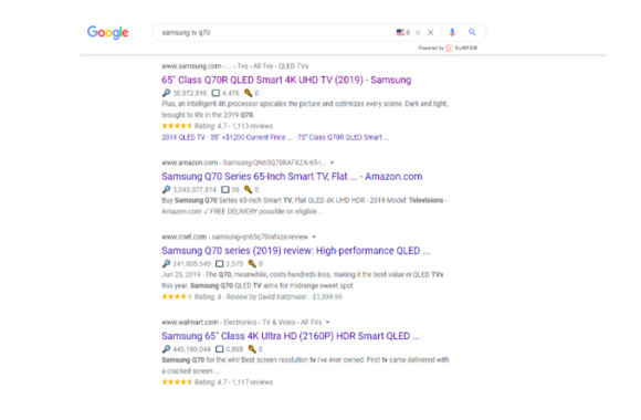 search engine optimization for product page example