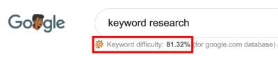 SEOquake Keyword Research