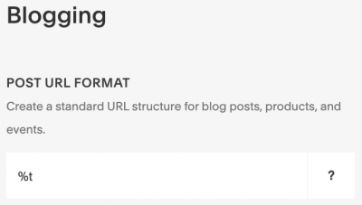 Squarespace Post URL Format