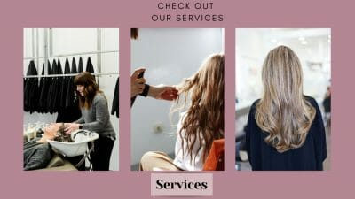 Google ads for hair salons landing page example
