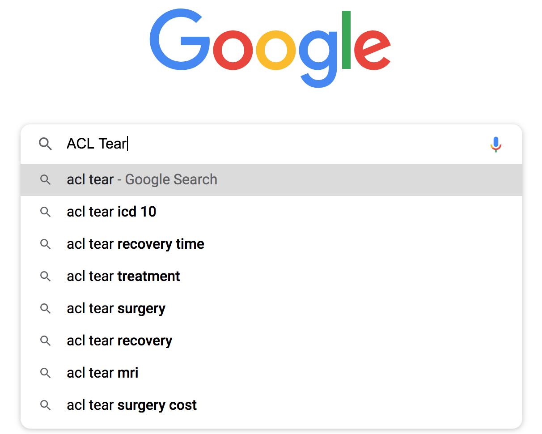 ALC Tear example for SEO Short Tail Keyword