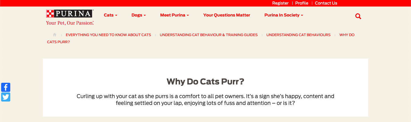 Informational Search query example-Purina