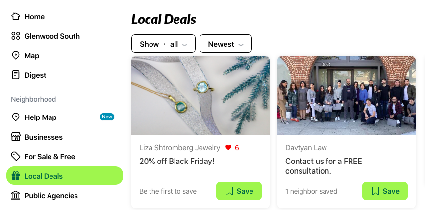 How to use Nextdoor for business - local deals