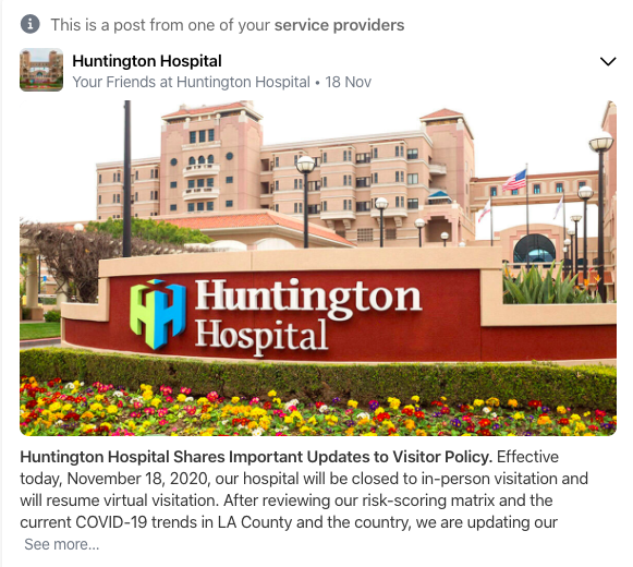 Nextdoor for Business - Hospital example