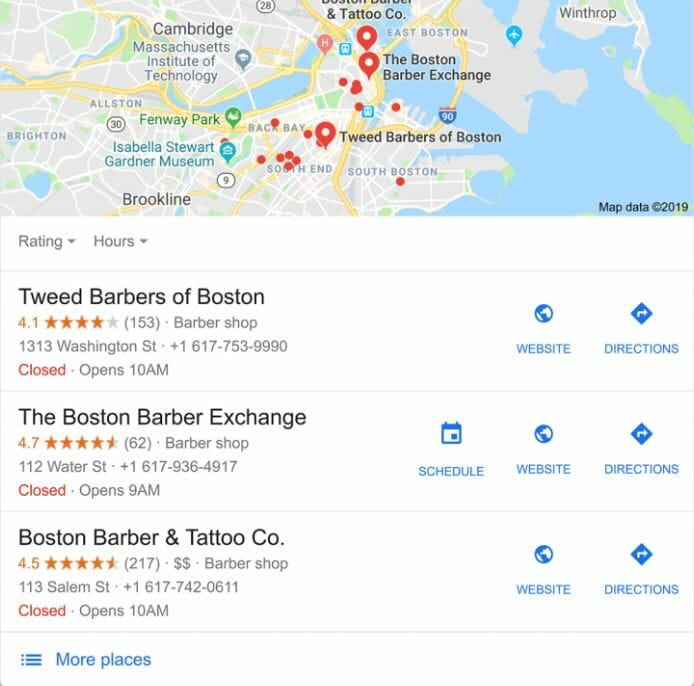 seo for nail salons google map pack local seo