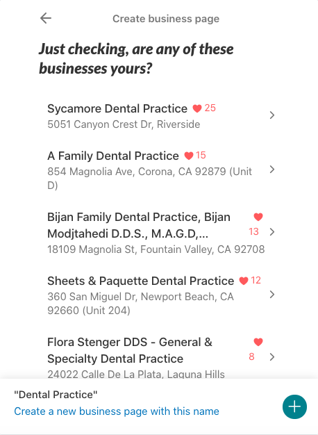 Nextdoor for Dentists Business Page Example