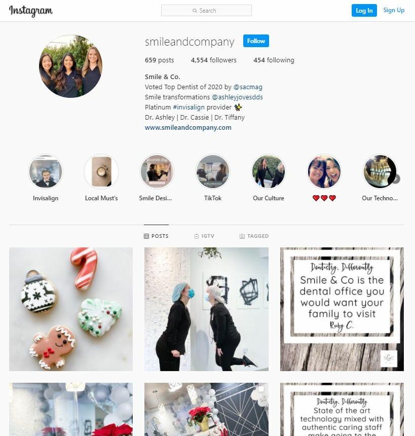 dental social media instagram page