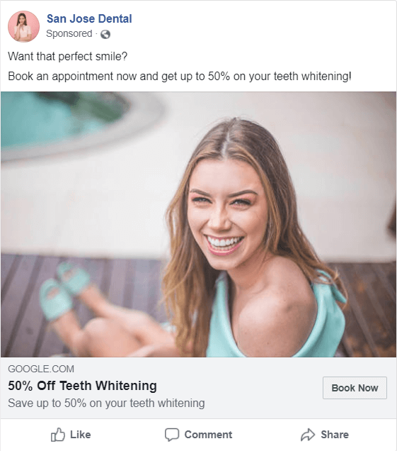 dentist Facebook image ad