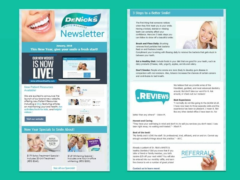 dental email marketing newsletter