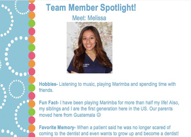 dental social media ideas team spotlight