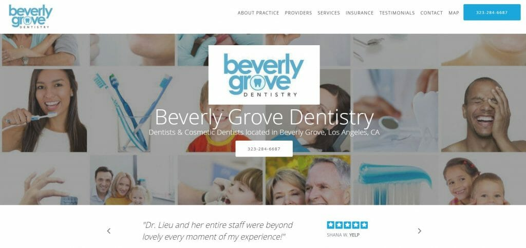 dental website example1