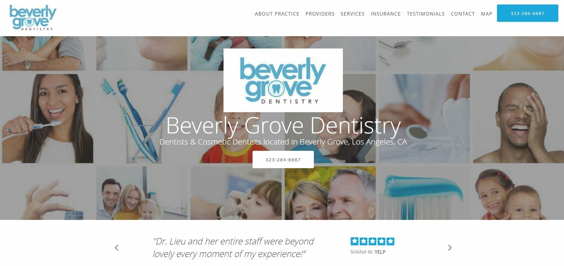 dental marketing plan website example 1