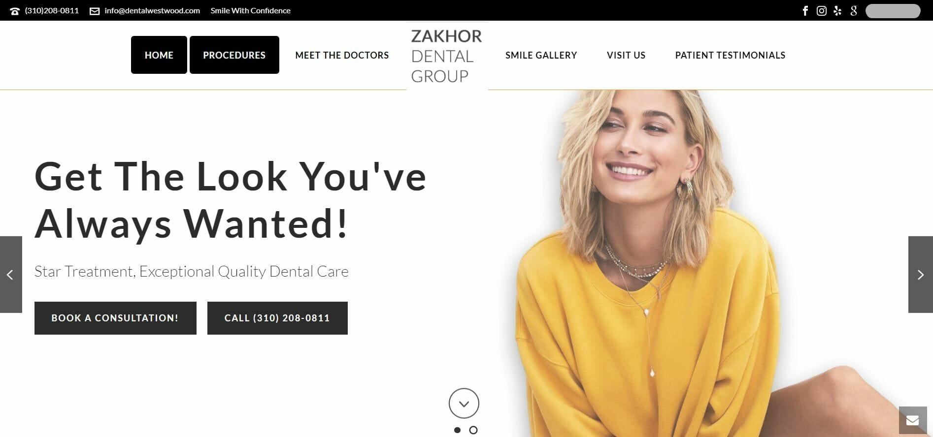 dental marketing plan website example 2