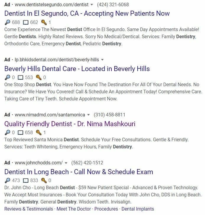 dentist marketing plan google ads