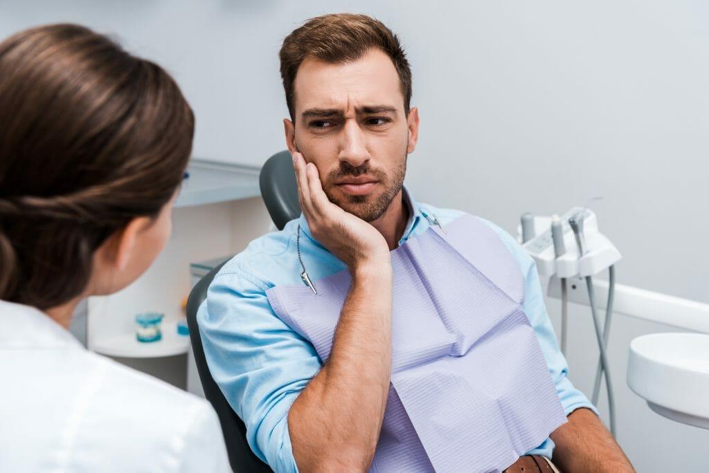 Dentist Looking Worried