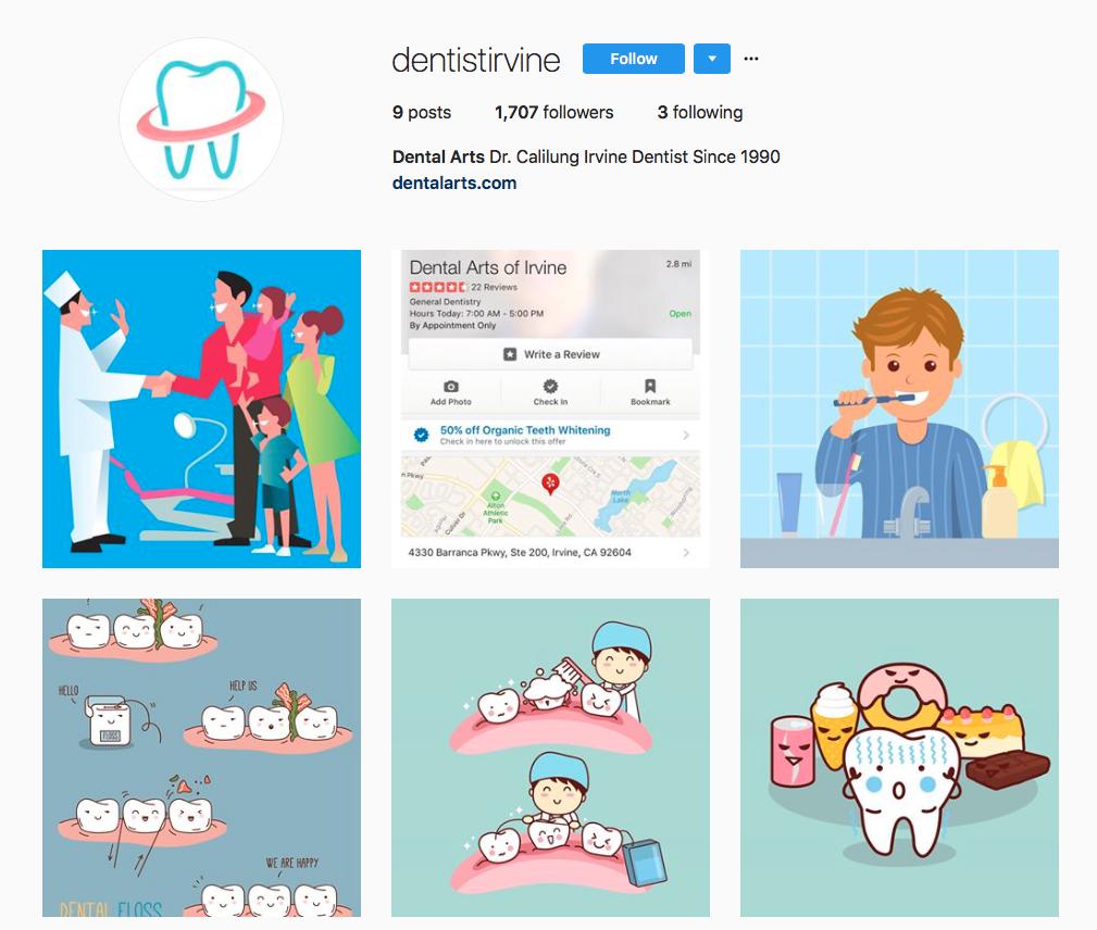 dental social media calendar content