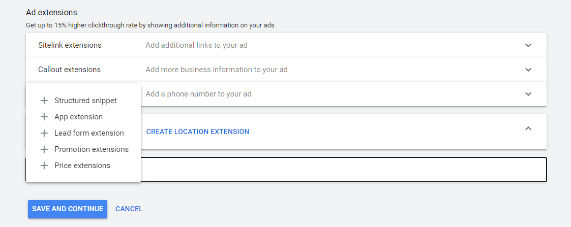 PPC Extension options