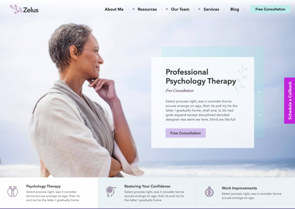 Website for therapists