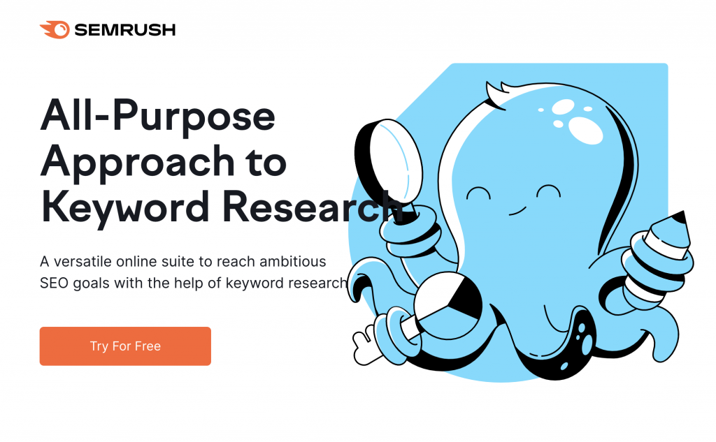 semrush free trial screen